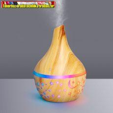 Bewello BW2001 Fényterápiás aroma diffúzor - fahatású minta - 300 ml