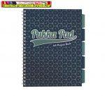 PUKKA PAD Glee project book Spirálfüzet, A4, vonalas, 100 lap,  sötétkék TR.