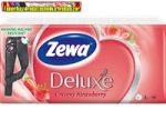 Zewa deluxe papírzsebkendő 90db/csom 3rétegű Eper