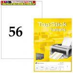 Top stick 52,5x21,2 mm öntapadós címke (etikett) 56 címke/lap 100lap/dob Made in Germany