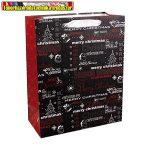 Dísztasak karácsonyi 26 x 32 cm fekete feliratos (337342)