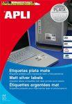 APLI Etikett, 210x297 mm, poliészter, időjárásálló,, matt ezüst, 20 etikett/csomag 10071