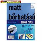 Bluering  hátlap bőrhatású matt karton kék 100 lap/cs 230gr/m2