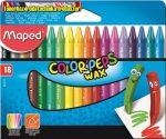 Zsírkréta, MAPED Color Peps Wax, 18 különböző szín (18db/cs)