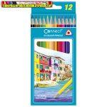 Connect Színes ceruza háromszögletű 12db-os