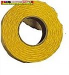 Árazószalag 25x12 mm narancs sárga
