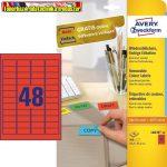Avery-Zweckform Etikett címke -L6038-20- 45,7x21,2mm 20ív/dob piros