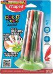 Filctoll készlet, 2,8 mm, elhagyhatatlan kupakos, MAPED Color'Peps Jungle, 12 különböző szín