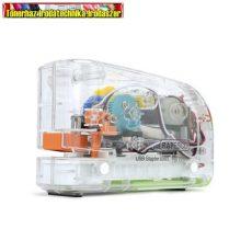 RAPESCO 626EL átlátszó  elemes tűzőgép, 26/6, 15 lap, műanyag, USB töltővel