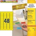 Avery-Zweckform Etikett címke -L6041-20- 45,7x21,2mm 20ív/dob sárga