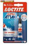 Pillanatragasztó  3 g, Loctite Super Attak Universal