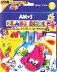 Üvegfóliafesték készlet, AMOS, 6 különböző szín