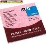 Öntapadós jegyzettömb Info Notes 75x75 mm 80 lapos rózsa minta 5654-02-01