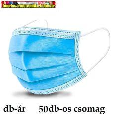 Orvosi szájmaszk 3 rétegű (arcmaszk) gumis 50db/cs