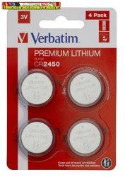 VERBATIM Premium Gombelem, CR2450, 2 db/cs