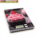 57267J Konyhai mérleg - muffin rózsaszín