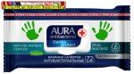 Aura Derma protect antibakteriális törlőkendő 72db/cs