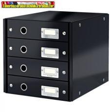 Leitz CLICK&STORE 4-fiókos irattároló 60490095 fekete