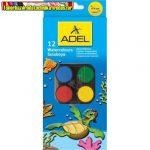 Adel 932 Vízfesték készlet 12-es nagygombos