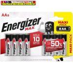 Energizer MAX  Alkaline ceruza elem AA 1.5V LR06 , db-ár (8db-os kiszerelés)