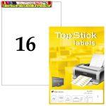 Top stick 105x37mm öntapadós címke (etikett) 16címke/lap 100lap/dob Made in Germany