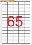 Apli eltávolítható fehér etikettek 36,8x23,8 mm  A/4-es íven 65címke/lap 100lap/doboz