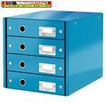 Leitz CLICK&STORE 4-fiókos irattároló 60490036 kék