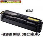 -BONTOTT- Samsung CLP-415,CLP-415,CLX-4195 Y504S YELLOW eredeti toner(504,CLP415,CLP415,CLX4195) 504S