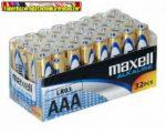 Maxell AAA LR03 Alkaline elem 32db/cs, db-ár