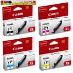 Canon CLI-571XL Bk, C,M,Y,GY  eredeti tintapatronok (CLI571,CLI 571) 11ml/szín
