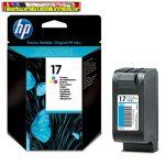 HP C6625A No 17 színes tintapatron Deskjet 816C , 825C , 840C , 841C , 842C , 843C , 845C nyomtatókhoz (25ml/410 old.)