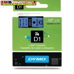 DYMO D1 (S0720560) 45016- 12mmx7m FEKETE betű/kék háttér