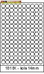 Rayfilm Univerzális címke (etikett) körcímke 18 mm(r) 15címke/lap 20lap/dob (R0100 1818KC)