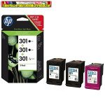 HP EREDETI TINTAPATRON CSOMAG E5Y87EE (301 TRIO PACK, 2 BK + 1 COLOR)