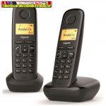 GIGASET ECO DECT Telefon A220 DUO fekete (Magyar menü)