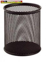 Tolltartó pohár fekete fémhálós (írószertartó)