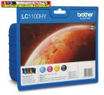 Brother LC 1100 High MultiPack (Bk+C+Y+M) eredeti (LC1100)  DCP-185C , 385C , 585Cw , 6690CW ,MFC-490CW , 790CW , 990CW , 5490CN , 5890CN , 6490CW , 6890CDW