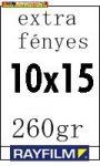 Rayfilm fotópapír 10x15cm 260g/m2 extra fényes 50db/csom (R021210 10x15/50)