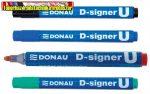 Donau D-signer U alkoholos marker, 2-4 mm,  kúpos,4 színben