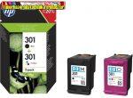 HP eredeti N9J72AE tintapatron csomag (CH561(301BK)+CH562(301color) egy csomagban ) (J3M81ae utód)