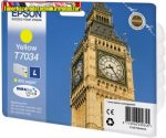 Epson T70344010 Yellow tintapatron 0,8K C13T70344010 (Eredeti)