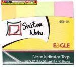 Jelölőcímke 15x50mm neon szín EAGLE 659-4N (4x40 lap) öntapadós (oldaljelölő)