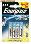 ENERGIZER HighTech Elem, AAA mikro, 4+2 db/csom, db-ár