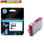 Hp CB319EE No 364 bíbor tintapatron Vivera tintával Photosmart D5445, D5460, D7560, C5380, C6380, B8850 nyomtatókhoz (300 old.)