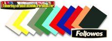 Fellowes Delta Hátlap bőrhatású matt karton vegyes színekben   100 lap/cs 250gr/m2