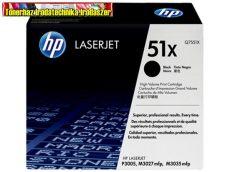 Eredeti Hp Q7551X toner (Nagykapacitású fekete festékkazetta Laserjet P3005 / M3035mfp / M3027mfp nyomtatókhoz (13000 old.)