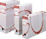 Esselte 128201 (128102) -100mm archiváló doboz fehér karton