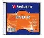 Verbatim DVD-R 4,7 GB, 16x, vékony tokban (AZO)