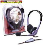 Genius HS-04S Fejhallgató (3.5mm Jack, hangerőszabályozó, mikrofon)