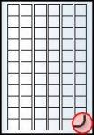 Rayfilm Univerzális címke (etikett) 25,4x25,4 mm 66címke/lap 20lap/dob (R0100 5003C)